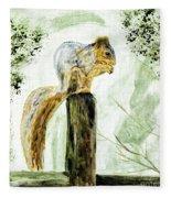 Squirrel Painting Fleece Blanket