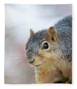 Squirrel Portrait Fleece Blanket