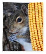 Squirrel Portrait Fleece Blanket