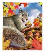 Squirrel Treasure Fleece Blanket