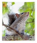 Squirrel With Personality Fleece Blanket