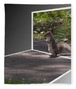 Squirrel World Fleece Blanket