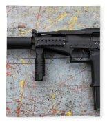 Sr-2mp Submachine Gun Fleece Blanket