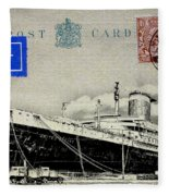 Ss United States - Post Card Fleece Blanket