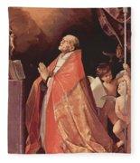 St Andrew Corsini In Prayer 1635 Fleece Blanket