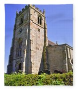 St Andrew's Church At Cubley In Derbyshire Fleece Blanket