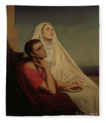 St Augustine And His Mother St Monica Fleece Blanket