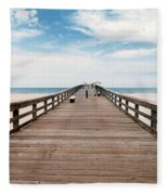 St. Augustine Pier Fleece Blanket