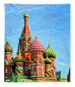 St. Basil's Cathedral Moscow Fleece Blanket