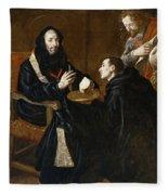 St Benedict Blesses The Bread Fleece Blanket