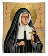 St. Bernadette Of Lourdes - Jcbsl Fleece Blanket