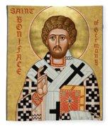 St. Boniface Of Germany - Jcbon Fleece Blanket