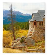 St. Catherine's Church In Autumn Fleece Blanket