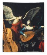St. Cecilia And The Angel Fleece Blanket