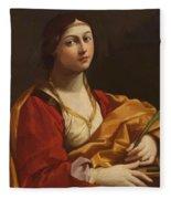 St Cecilia Fleece Blanket