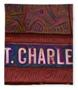 St Charles Line Fleece Blanket