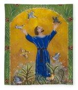 St. Francis And Birds Fleece Blanket