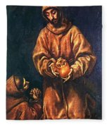 St Francis And Brother Rufus 1606 Fleece Blanket