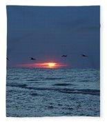 St. George Island Sunrise Fleece Blanket