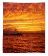 St. George Island Sunset Fleece Blanket