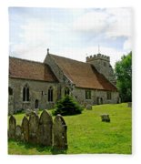St George's Church At Arreton Fleece Blanket
