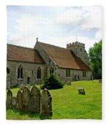St George's Church At Arreton Fleece Blanket