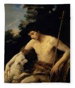 St John The Baptist In The Wilderness 1625 Fleece Blanket