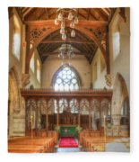 St John The Baptist Penshurst Interior Fleece Blanket