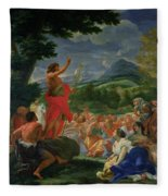 St John The Baptist Preaching Fleece Blanket