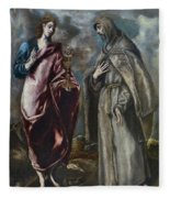 St. John The Evangelist And St. Francis Of Assisi Fleece Blanket
