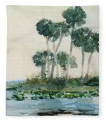 St John's River Florida Fleece Blanket