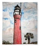 St Johns River Lighthouse Florida Fleece Blanket
