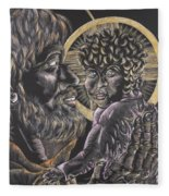 St. Joseph And The Child Jesus Fleece Blanket