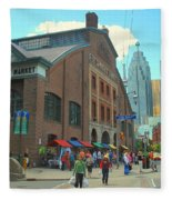 St Lawrence Market Fleece Blanket