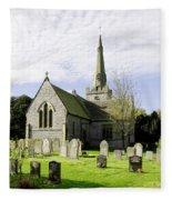 St Leonard's Church At Monyash Fleece Blanket
