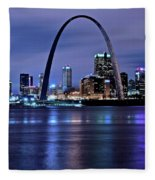 St Louis Black N Blue Fleece Blanket
