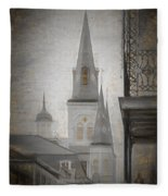 St. Louis Cathedral From Chartres St. - Nola Fleece Blanket
