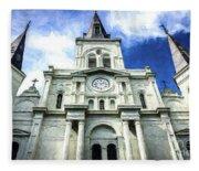 St. Louis Cathedral - Nola- Art Fleece Blanket