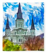 St. Louis Cathedral - Paint Fleece Blanket