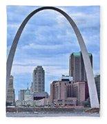 St Louis Panoramic View Fleece Blanket