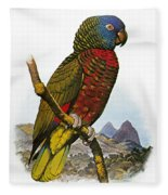 St Lucia Amazon Parrot Fleece Blanket