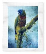 St. Lucia Parrot - Majestic Fleece Blanket