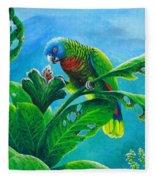 St. Lucia Parrot And Bwa Pain Marron Fleece Blanket