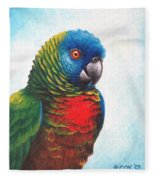 St. Lucia Parrot Fleece Blanket