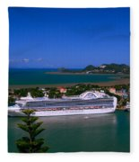 St. Lucia Port Fleece Blanket