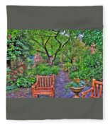 St. Luke Garden Sanctuary Fleece Blanket
