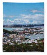 St. Maarten Landscape Fleece Blanket