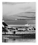 St. Margarets Hope, Orkney.    Black And White Fleece Blanket