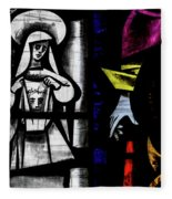 St Mary Redcliffe Stained Glass Close Up C Fleece Blanket