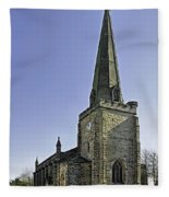 St Mary's Church At Uttoxeter Fleece Blanket
